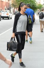 ADRIANA LIMA Arrives at a Gym in New York 09/21/2017