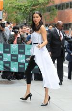 ADRIANA LIMA Arrives at AOL Build Series in New York 09/20/2017