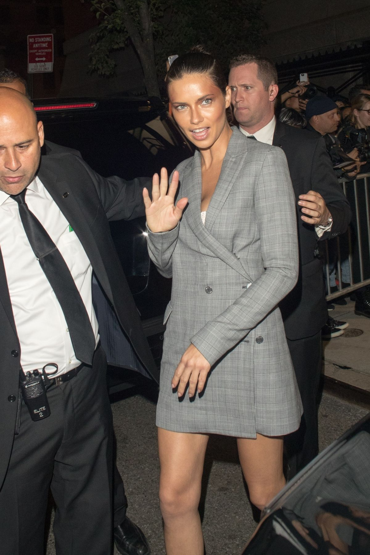 ADRIANA LIMA Night Out in New York 09/10/2017