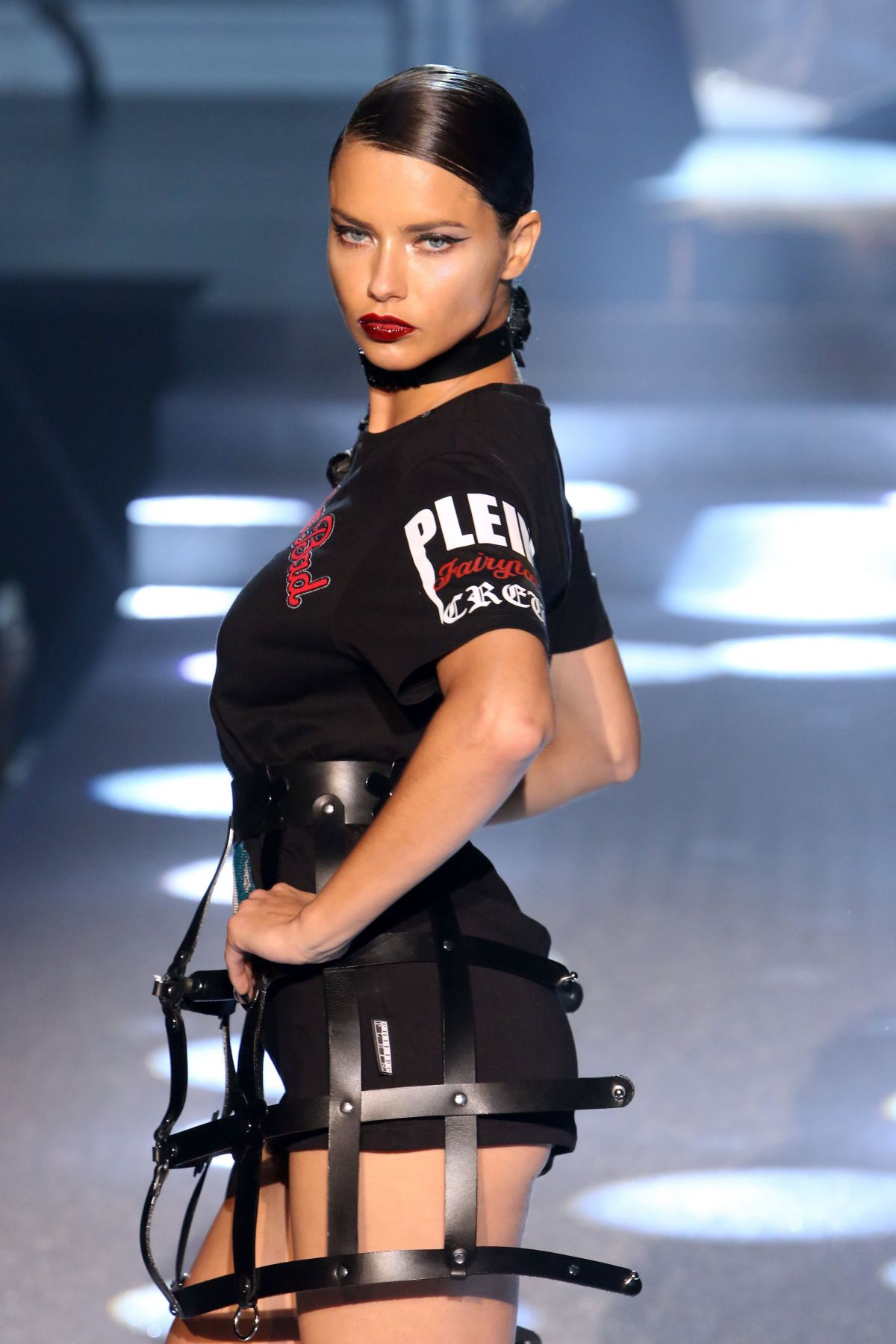 ADRIANA LIMA at Philipp Plein Fashion Show at New York Fashion Week 09/09/2017