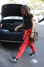 ALESSANDRA AMBROSIO Arrives at Her Hotel in Milan 09/19/2017