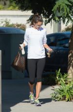 ALESSANDRA AMBROSIO at a Gym in Los Angeles 09/25/2017