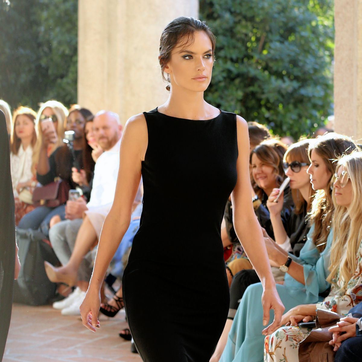 ALESSANDRA AMBROSIO at Alberta Ferretti Fashion Show at Milan Fashion Week 09/20/2017