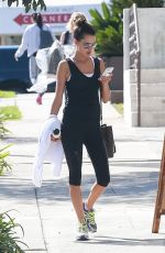 ALESSANDRA AMBROSIO Heading to a Gym in Los Angeles 09/25/2017
