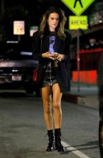 ALESSANDRA AMBROSIO Leaves Genghis Cohen Restaurant in West Hollywood 09/24/2017
