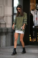 ALESSANDRA AMBROSIO Leaves Her Hotel in Milan 09/19/2017