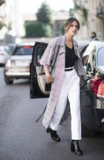 ALESSANDRA AMBROSIO Out and About in Milan 09/20/2017