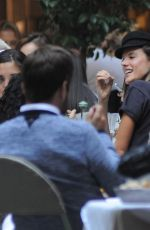 ALESSANDRA AMBROSIO Out for Lunch in Milan 09/21/2017