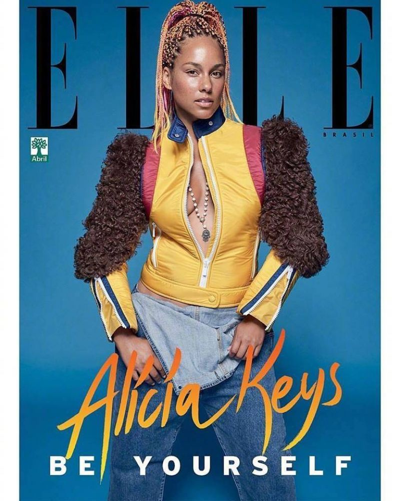 ALICIA KEYS for Elle Magazine, Brazil September 2017