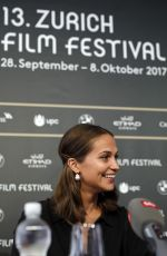 ALICIA VIKANDER at Euphoria Press Conference at 13th Zurich Film Festival 09/29/2017