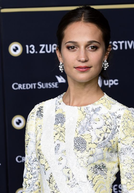 ALICIA VIKANDER at Euphoria Premiere at 13th Zurich Film Festival 09/29/2017