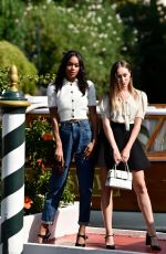 ALYCIA DEBNAM-CAREY and LAURA HARRIER at 74th Venice International Film Festival 09/02/2017