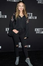 ALYSSA JIRRELS at Knott's Scary Farm Celebrity Night in Buena Park 09/29/2017