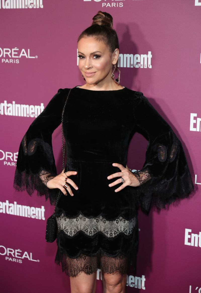 ALYSSA MILANO at 2017 Entertainment Weekly Pre-emmy Party in West Hollywood 09/15/2017
