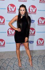 AMBER DAVIES at TV Choice Awards in London 09/04/2017