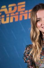 ANA DE ARMAS at Blade Runer 2049 Photocall in Madrid 09/19/2017
