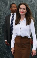 ANGELINA JOLIE at United Nations Headquarters in New York 09/14/2017
