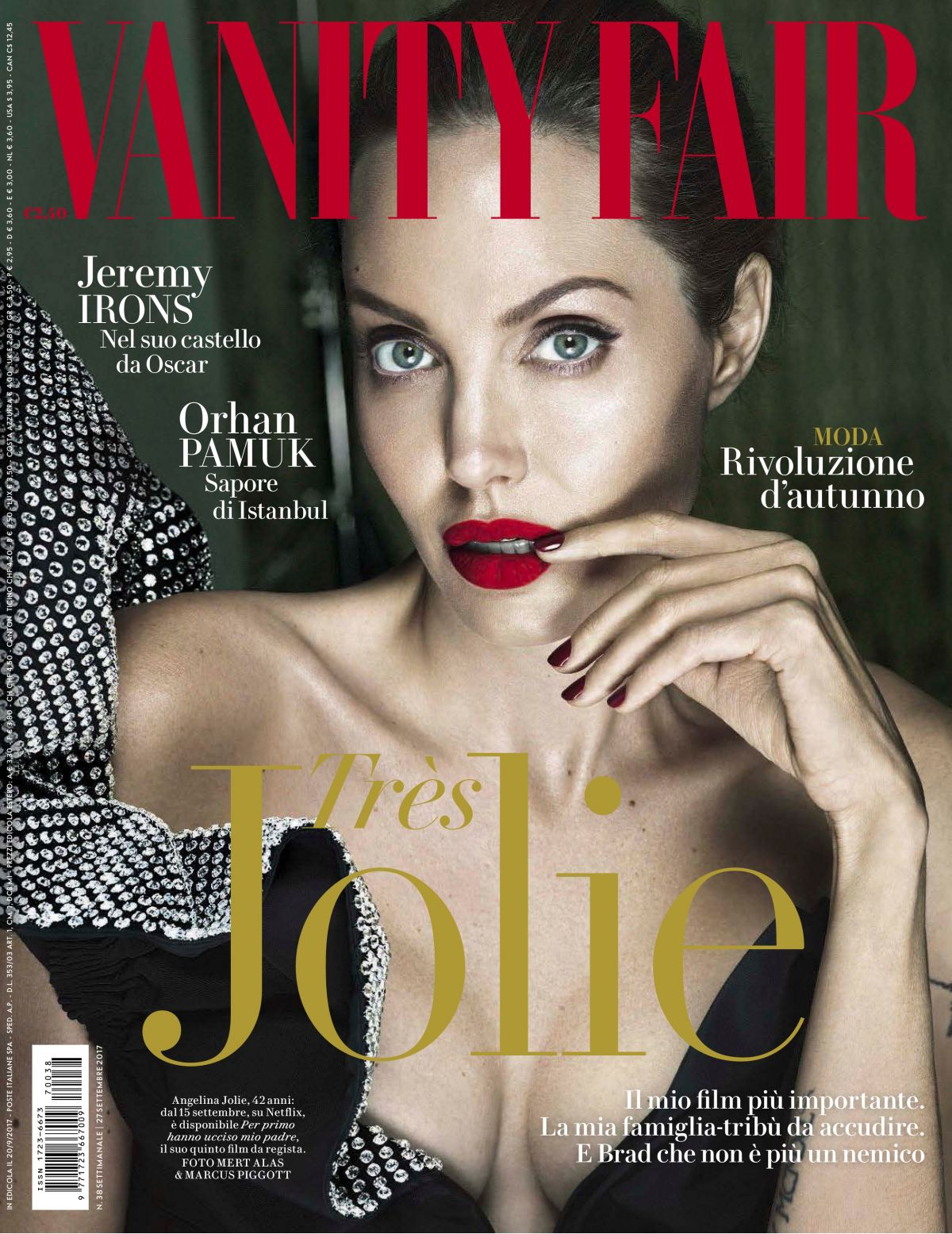 ANGELINA JOLIE in Vanity Fair Magazine, September 2017 Issue