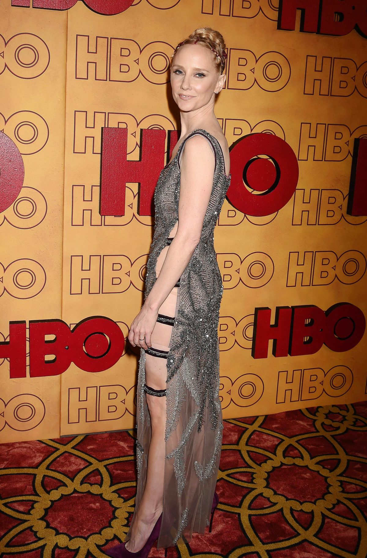 anne heche at hbo post emmy awards reception in los