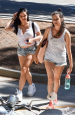 ARIEL WINTER in Daisy Dukes Out and About in Los Angeles 08/28/2017