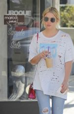ASHLEY BENSON Out for Lunch in Beverly Hills 09/28/2017