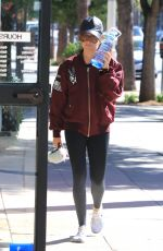 ASHLEY TISDALE Heading to a Gym in Studio City 09/27/2017