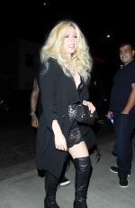 AVRIL LAVIGNE Celebrates Her Birthday at Tao in West Hollywood 09/27/2017