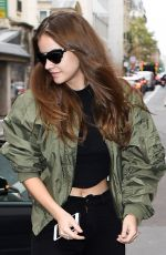 BARBARA PALVIN Out and About in Paris 09/27/2017
