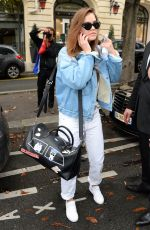 BARBARA PALVIN Out and About in Paris 09/28/2017