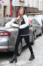 BARBARA PALVIN Out and About in Paris 09/29/2017