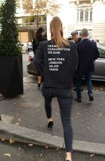 BARBARA PALVIN Out at Paris Fashion Week 09/29/2017