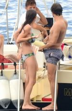 BEE SHAFFER in Bikini at a Boat in Portofino 08/31/2017