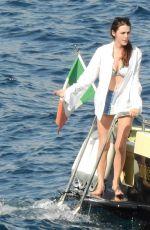 BEE SHAFFER in Bikini at a Boat in Portofino 08/31/2017