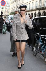 BELLA HADID Arrives at Museum of Fashion in Paris 09/27/2017