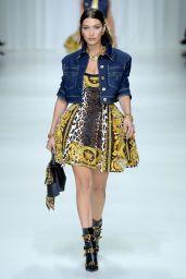 BELLA HADID at Versace Fashion Show at Milan Fashion Week