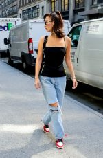 BELLA HADID Out and About in New York 09/07/2017