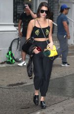 BELLA HADID Out in New York 09/06/2017