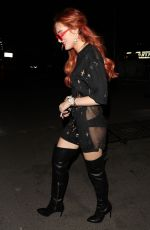 BELLA THORNE Leaves Bowery Hotel in New York 09/07/2017