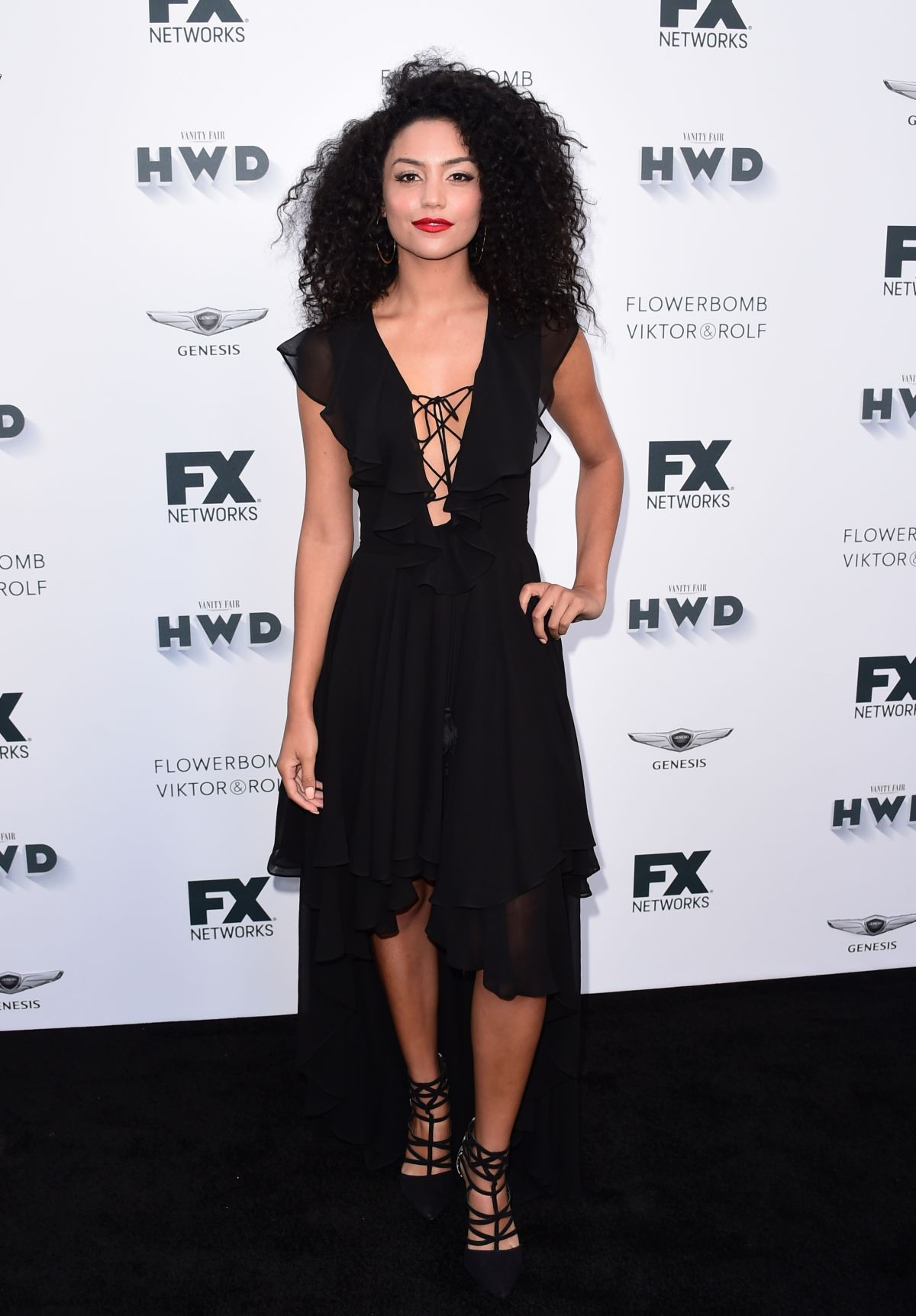 BIANCA A SANTOS at FX and Vanity Fair Emmy Celebration in Century City 09/16/2017