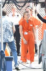 BLAKE LIVELY and ANNA KENDRICK on the Set of A Simple Favor in Toronto 09/13/2017