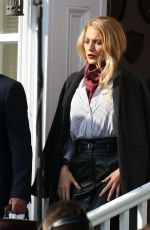 BLAKE LIVELY on the Set of A Simple Favor in Toronto 09/06/2017