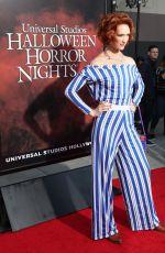 BREEDA WOOL at Halloween Horror Nights Opening Night in Hollywood 09/15/2017