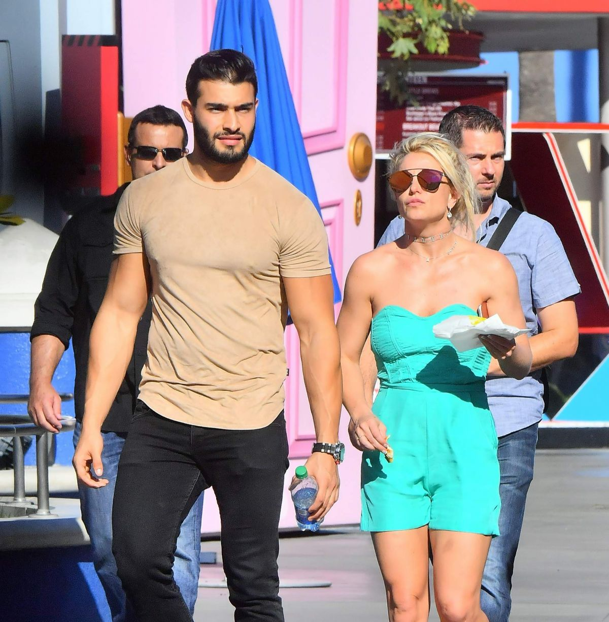 BRITNEY SPEARS Sam Asghari Out at Disneyland 09/09/2017