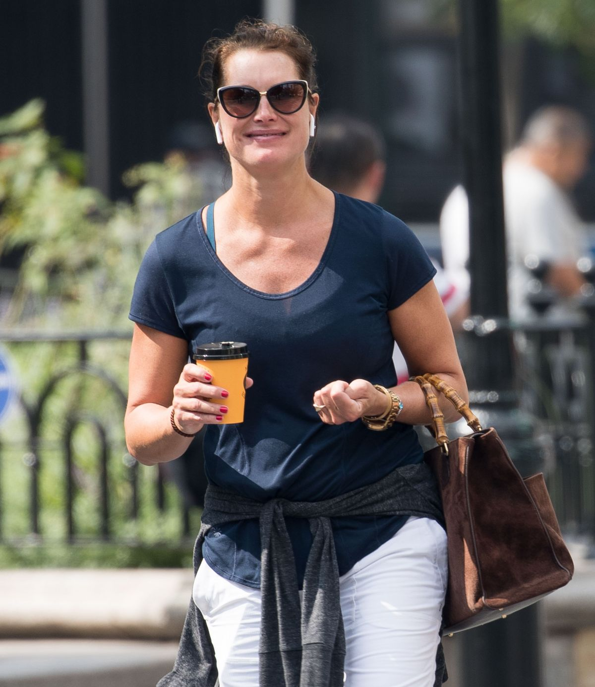 BROOKE SHIELDS Out and About in New York 09/05/2017