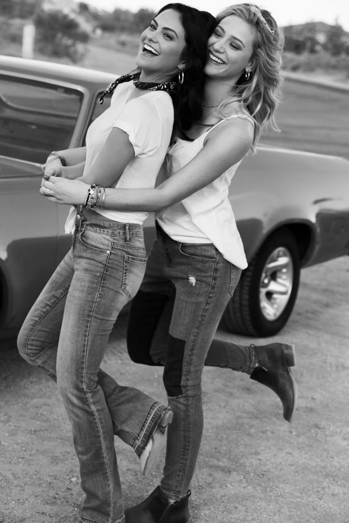 Camila Mendes And Lili Reinhart For Bongo Jeans Bongo Bff