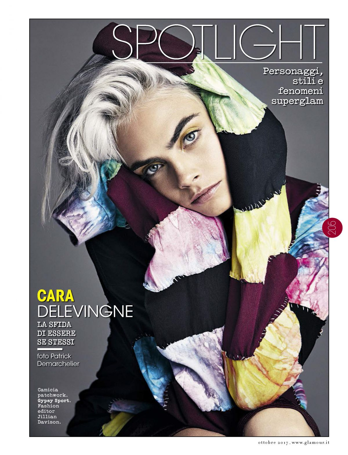 CARA DELEVINGNE in Glamour Magazine, Italy Cctober 2017 Issue