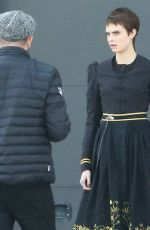 CARA DELEVINGNE on the Set of Carnival Row in Prague 09/29/2017
