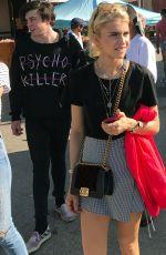 CAROLINE DAUR and SONIA BEN AMMAR at a Flea Market in Hollywood 07/30/2017