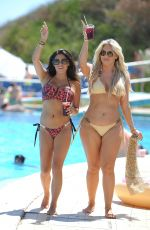 CASEY BATCHELOR and FRANKE ESSEX in Bikinis at a Pool in Spain 09/12/2017