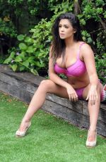 CASEY BATCHELOR on the Set of Her 2018 Calendar Photoshoot in London 09/27/2017